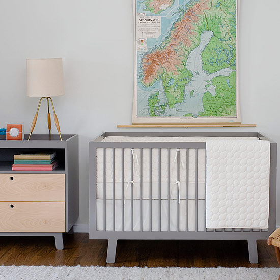 oeuf sparrow crib used assembly grey