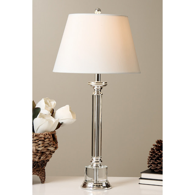 Restoration hardware chelsea column table lamp copycatchic for Lampe de chevet cristal