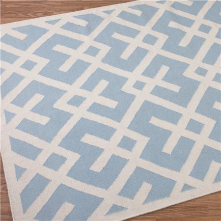 Shades Of Light Soho Modern Geometric Dhurrie 6u2032 X 9u2032 Rug In Blue U003d $368
