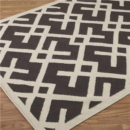 Shades Of Light Soho Modern Geometric Dhurrie 6u2032 X 9u2032 Rug In Espresso U003d $368
