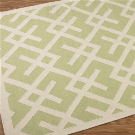 Shades Of Light Soho Modern Geometric Dhurrie 6u2032 X 9u2032 Rug In Green U003d $368