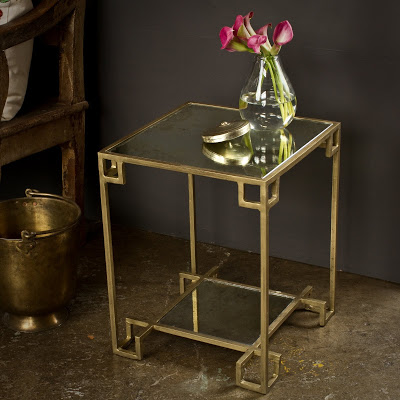 CG Sparks Brass Cubist Side Table