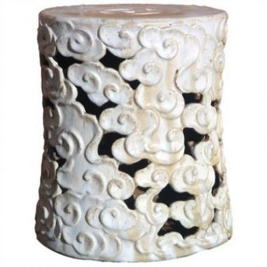 Clayton Gray Celestial Cloud Ceramic Stool