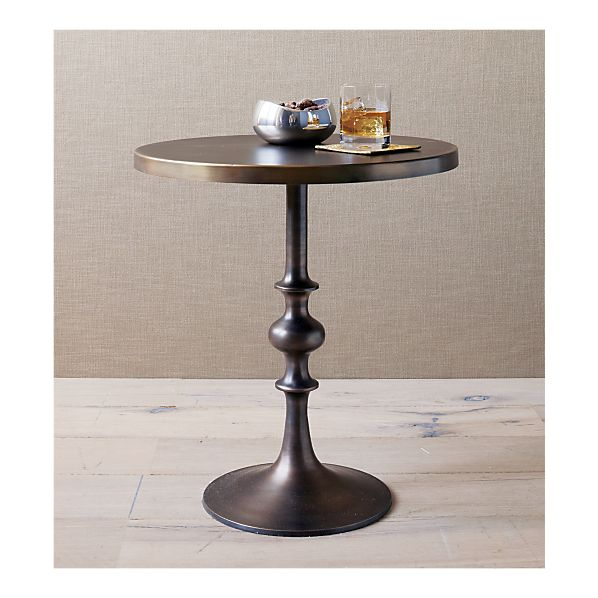Crate And Barrel Spool Accent Table Copy Cat Chic