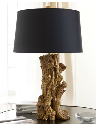Horchow Golden Sequoia Table Lamp