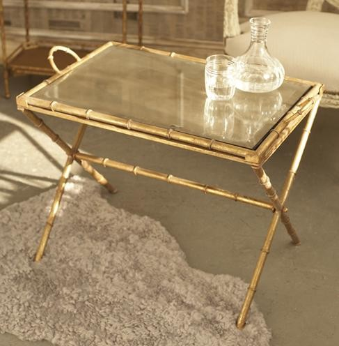 Bamboo Gilt Tray Table Copy Cat Chic