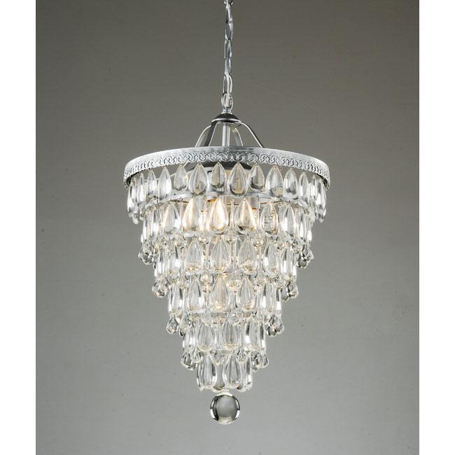 Popular Overstock us Cone Shape Silver Crystal Chandelier ud