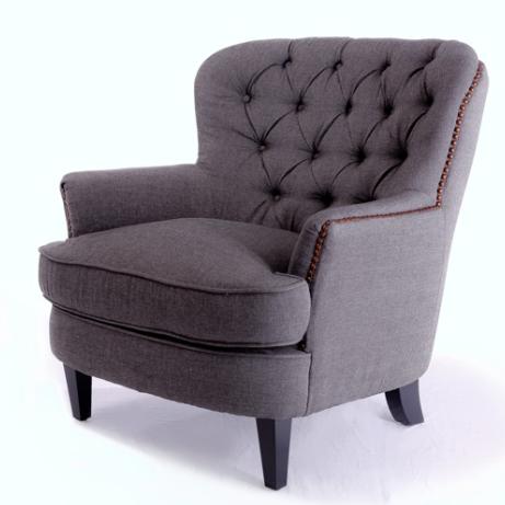Nice Overstocku0027s Tafton Tufted Grey Club Chair U003d $339.29