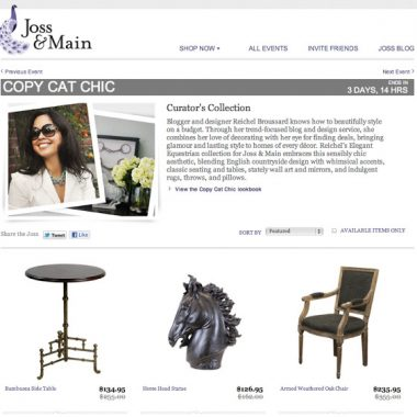 My Sale on Joss and Main is Live Now!