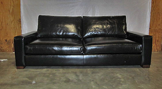 Restoration Hardware Maxwell Leather Sofa Copy Cat Chic