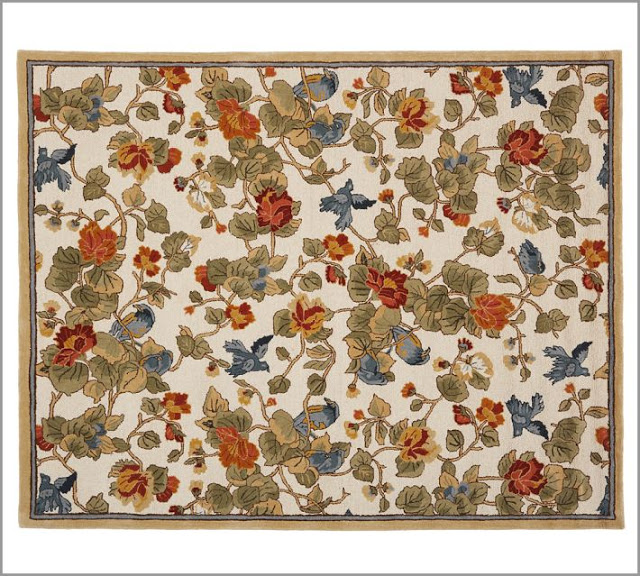 Pottery Barn Bird Floral Rug Copy Cat Chic