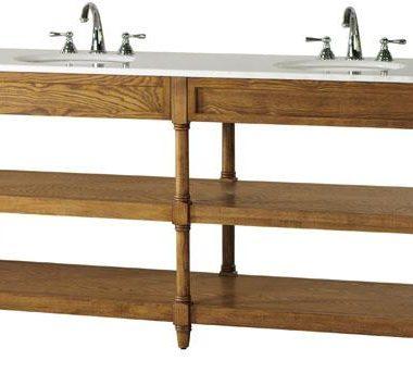 Restoration Hardware Weathered Oak Double Washstand