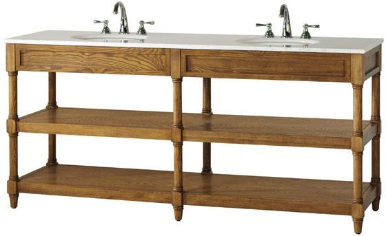 Restoration Hardware Weathered Oak Double Washstand