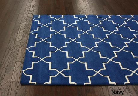 Overstocku0027s Handmade Luna Moroccan Trellis Wool Rug (7u00276 X 9u00276) ...