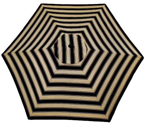 Home Depot's Plantation Patterns 9 ft. Twilight Stripe Aluminum Umbrella =  $89.98 - Ballard Design Canopy Striped Outdoor Umbrella - Copy Cat Chic