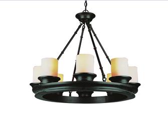 Pottery barn veranda chandelier copycatchic lowes bel air 8 light wagon wheel chandelier 209 mozeypictures Images