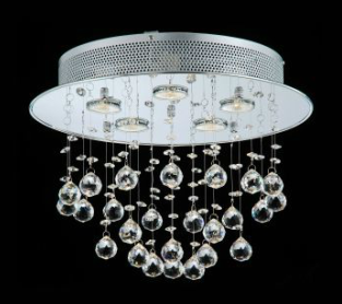 Spectacular Overstock us Floating Bubble Chrome and White light Crystal Chandelier