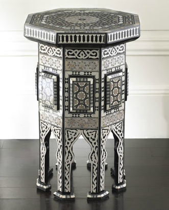Neiman Marcus Black Moroccan Table