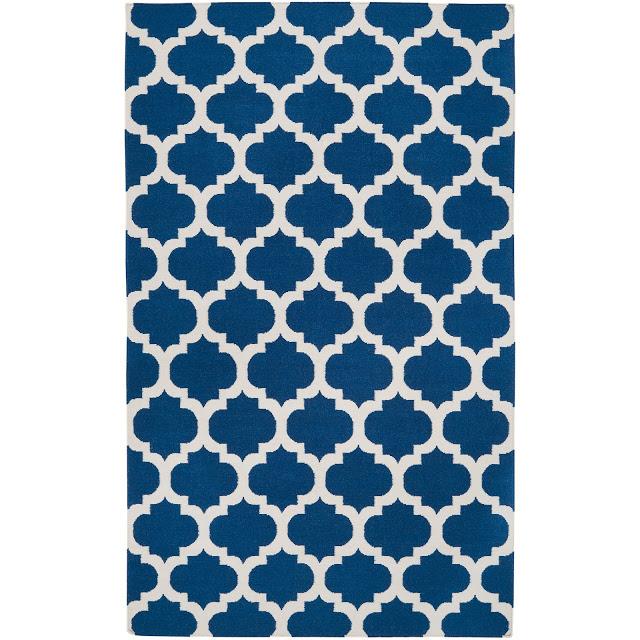 Hand Woven Blue Wool Blinov Rug (8u2032 X 11u2032) ...