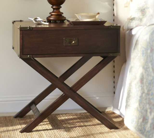 Pottery Barn Devon Campaign Bedside Table