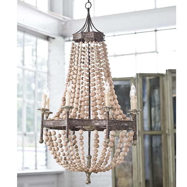 Regina andrew scalloped wood bead chandelier copycatchic regina andrew scalloped wood bead chandelier aloadofball Image collections