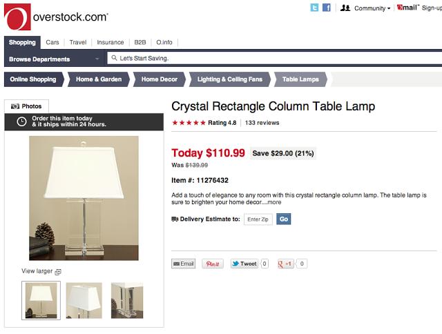 Restoration Hardware Crystal Pier Table Lamp Copycatchic