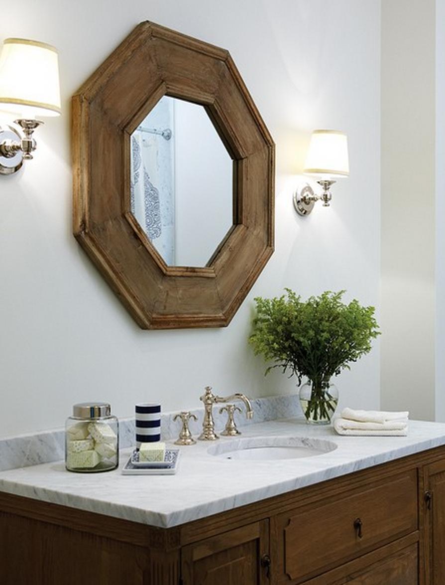 restoration hardware octagonal mirror copycatchic. Black Bedroom Furniture Sets. Home Design Ideas