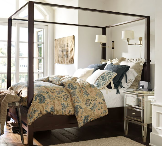 Pottery Barn Farmhouse Canopy Bed