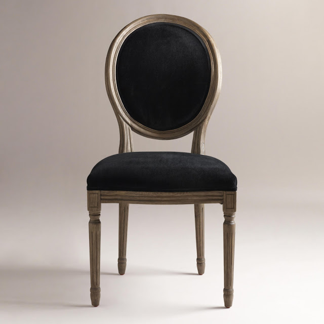 Attractive Restoration Hardware Vintage French Round Upholstered Side Chair  KD17