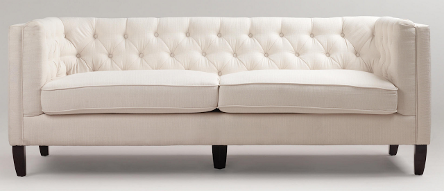 Cost Plus Kendall Ivory Sofa