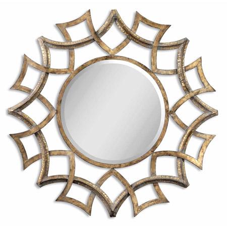 Unique Lowe us Allen Roth Antique Gold Demarco Mirror