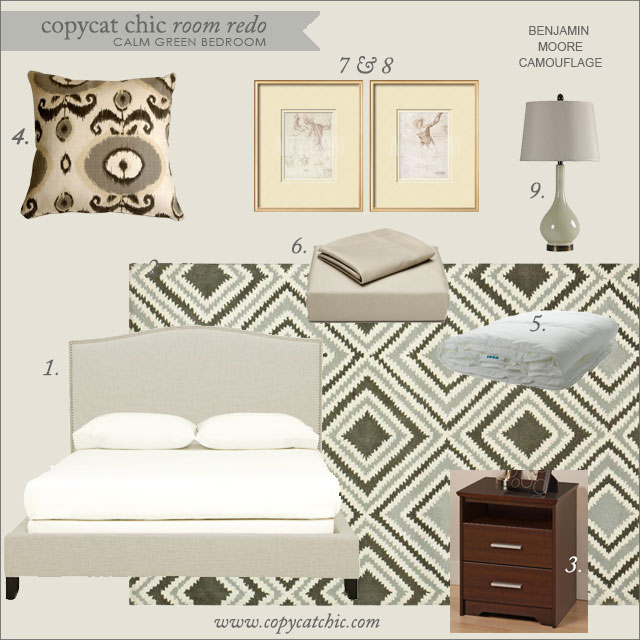 Copy Cat Chic Room Redo Calm Green Bedroom Copycatchic