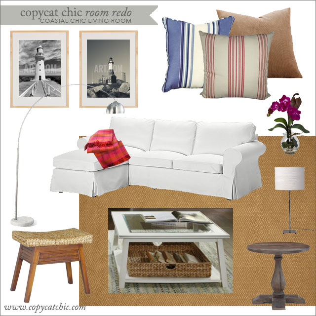 Copy Cat Chic Room Redo Coastal Chic Living Room