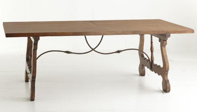 Lovely Wisteria Handmade Trestle Table
