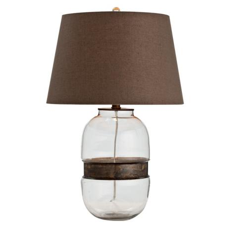Lamps Plus Arteriors Garrison Vintage Brass And Glass Table Lamp