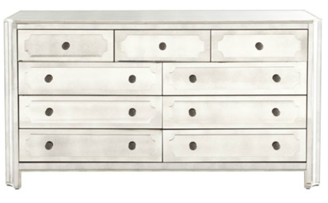 Horchow Logan Large Mirrored Chest Copy Cat Chic