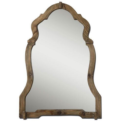 BELLACOR UTTERMOST AGUSTIN WALNUT MIRROR