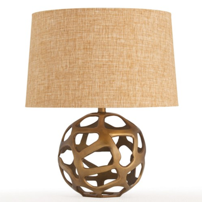 Zinc Door Arteriors Ennis Antique Brass Web Sphere Lamp
