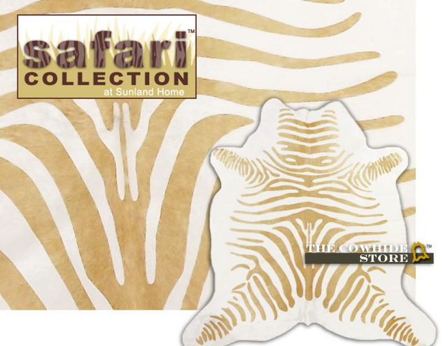 SUNLAND HOME DECOR TAN ZEBRA HIDE