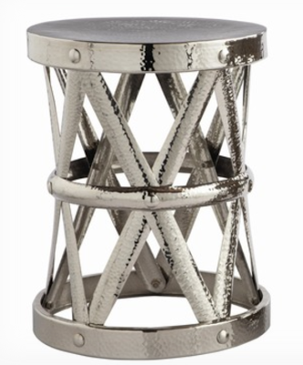Arteriors Home Costello Accent Table In Polished Nickel