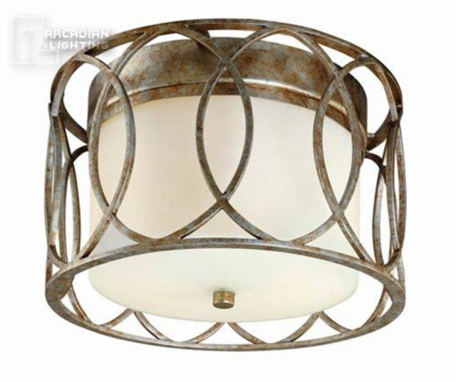 TROY LIGHTING SAUSALITO TRANSITIONAL FLUSH MOUNT CEILING LIGHT