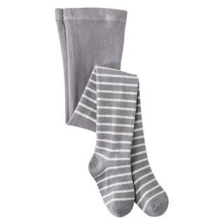 Target's Cherokee® Infant Toddler Girls' Lurex Stripe Tight Grey
