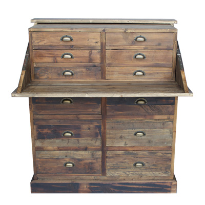 URBAN HOME SALVAGED SECRETARY CHEST