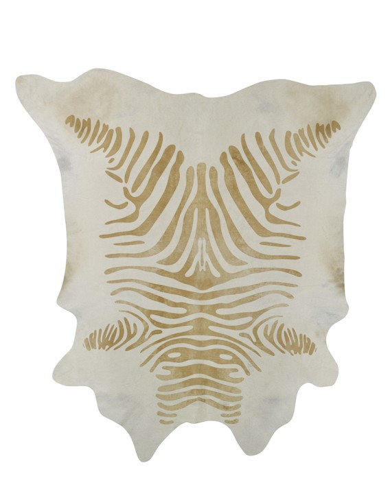 Williams Sonoma Home Stenciled Caramel Zebra Rug