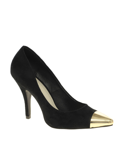 ASOS SIDNEY POINTED HIGH HEELS WITH METAL TOE CAP