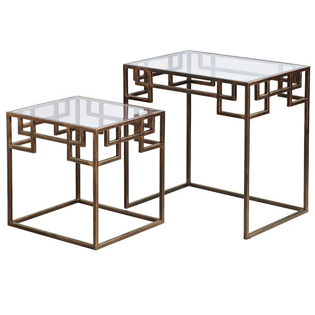 PIER 1 GREEK KEY NESTED TABLES
