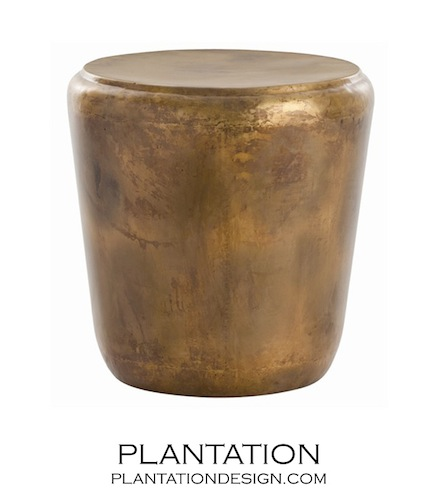 PLANTATION DESIGN CATALAN IRON END TABLE