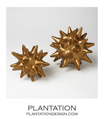 PLANTATION DESIGN SPIKY DECO SPHERES