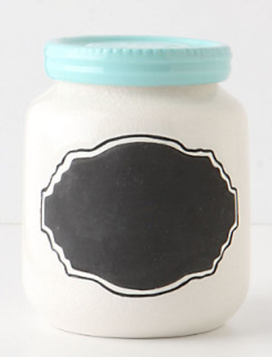 ANTHROPOLOGIE CHALKBOARD SPICE JAR