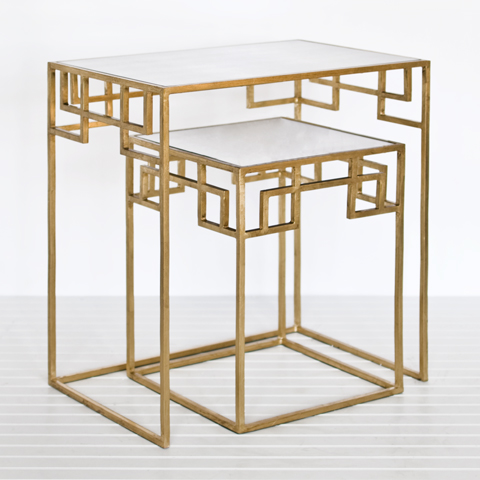 SHOP TEN 25 GOLD LEAF NESTING TABLES